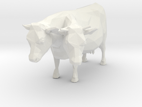 2-head Cow in White Natural Versatile Plastic