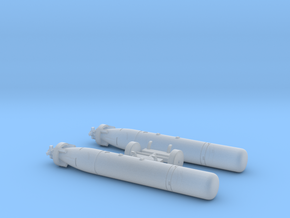 Mark 44 Torpedo with Wasp Pylons in Smooth Fine Detail Plastic