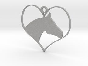 Horse Heart in Aluminum