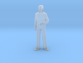 S Scale standing man 2 in Smooth Fine Detail Plastic