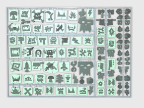 Oglyph Set 01 : Vehicle Insignia pack in Frosted Ultra Detail