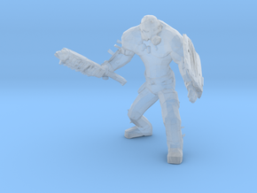 Wasteland Heavy Muscled Bandit with Scrap Gear  in Smooth Fine Detail Plastic