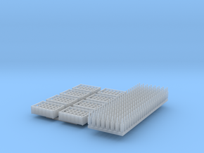 O  scale  - 192 bottles, 8 crates in Smoothest Fine Detail Plastic