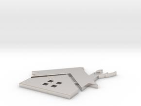 Red House Pendant in Platinum