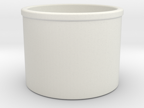1/96 USS LCT Mk51 Tub in White Natural Versatile Plastic