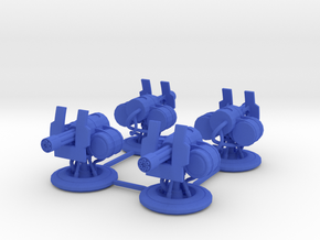 Turrets for Gaslands - 4 Pack in Blue Processed Versatile Plastic