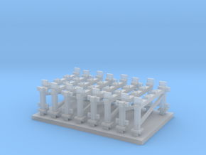 Station Platform Supports in Smooth Fine Detail Plastic