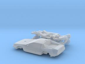 DeLorean Time Machine Train/Car N 1:160 V.2 in Smooth Fine Detail Plastic