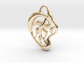 Pattern of nature in 14k Gold Plated Brass