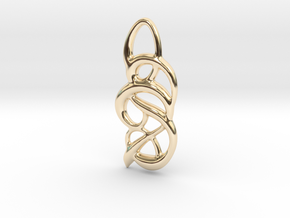 Messy thoughts in 14k Gold Plated Brass