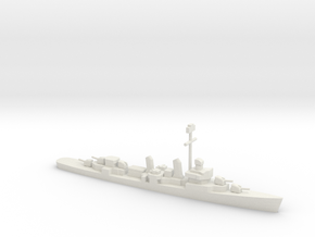 Fletcher-class destroyer (1941-1944), 1/1200 in White Natural Versatile Plastic