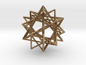 IcosiDodecahedral Star v 2 in Natural Brass