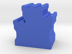 Game Piece, Dwarven Fortress in Blue Processed Versatile Plastic