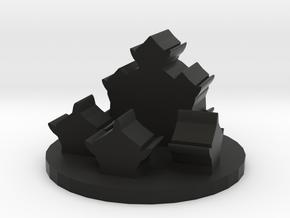 Game Piece, Orc Village Token in Black Natural Versatile Plastic