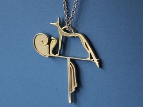 Wepwawet amulet  in Polished Brass