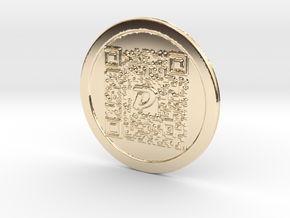 DigiByte Metal Wallet in 14K Yellow Gold