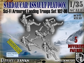 1/35 Sci-Fi Sardaucar Platoon Set 102-06 in Smooth Fine Detail Plastic