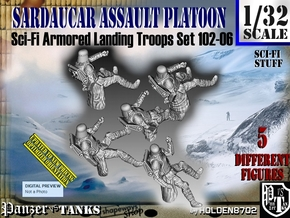 1/32 Sci-Fi Sardaucar Platoon Set 102-06 in Frosted Ultra Detail