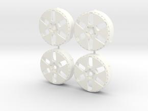 MST / Work Euroline Type N Insert (x4) in White Processed Versatile Plastic