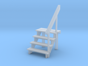 1:48 scale - 4 step stair & railing in Smoothest Fine Detail Plastic