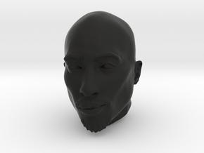 Tupac Head Sculpture in Black Natural Versatile Plastic