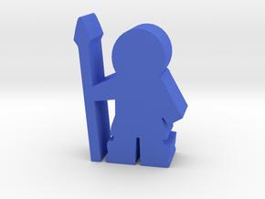 Game Piece, Eskimo with Spear in Blue Processed Versatile Plastic