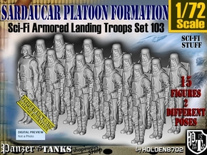 1/72 Sci-Fi Sardaucar Platoon Set 103 in Smooth Fine Detail Plastic