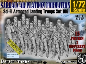 1/72 Sci-Fi Sardaucar Platoon Set 106 in Smooth Fine Detail Plastic