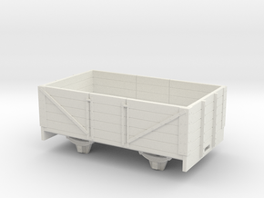1:32/1:35 5 plank coal wagon long  in White Natural Versatile Plastic