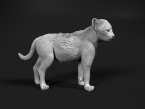 Cheetah 1:48 Standing Cub in Smooth Fine Detail Plastic