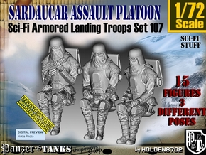 1/72 Sci-Fi Sardaucar Platoon Set 107 in Smooth Fine Detail Plastic