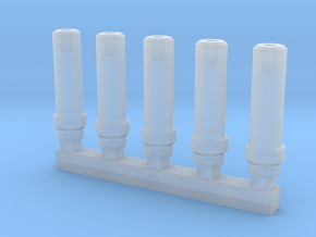 Bolt Rifle Suppressors v1 x5 in Smoothest Fine Detail Plastic