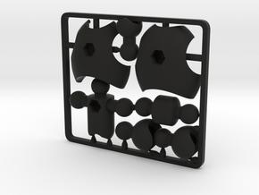 Ultra-poseable Chest Upgrade Kit for ModiBot in Black Premium Strong & Flexible