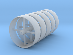 c.1:48  Flat Belt Pulley - 4ea in Smooth Fine Detail Plastic