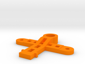 MagDragster Slot Guide Mount in Orange Processed Versatile Plastic