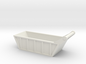 1:50 scale Bedding Box   in White Natural Versatile Plastic