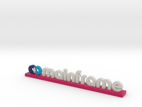 Mainframe Logo Red in Full Color Sandstone