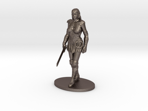 Xena Miniature in Polished Bronzed Silver Steel: 1:60.96