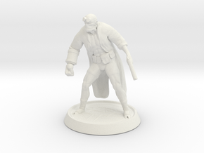 Hellboy Miniature in White Natural Versatile Plastic