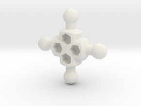 Crux Hub for ModiBot in White Natural Versatile Plastic