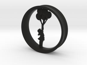Girl Balloon Rim in Black Premium Versatile Plastic