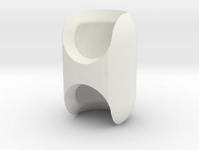 Double-Socket Connector for ModiBot in White Natural Versatile Plastic