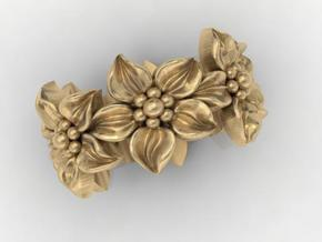 flower band in Polished Gold Steel