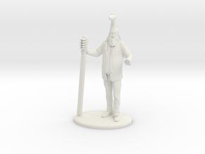 Vermin Supreme Miniature in White Natural Versatile Plastic: 1:60.96