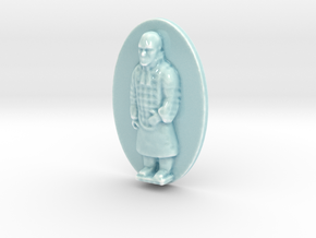 Personalised Warrior Terracotta Army Relief in Gloss Celadon Green Porcelain