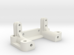 Yokomo YZ10 1994 Front Arm Mount in White Natural Versatile Plastic