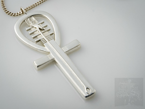 Egyptian Ankh a Replica of an ancient symbol of li in Polished Silver