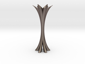 CL Vase in Polished Bronzed Silver Steel