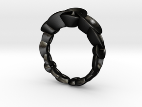 Neitiri Easy Love Ring (From $19) in Matte Black Steel: 6.5 / 52.75