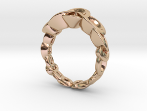 Neitiri Easy Love Ring (From $19) in 14k Rose Gold Plated Brass: 6.5 / 52.75